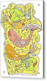 Fish Fish Acrylic Print by Linda Kay Thomas