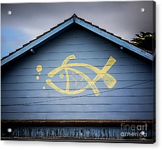 Acrylic Print featuring the photograph Fish House by Perry Webster