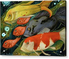 Fish Acrylic Print by Leah Saulnier The Painting Maniac