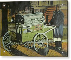 Fish Peddler Acrylic Print by Perry Ashe