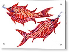 Fish Pisces Acrylic Print by Jane Tattersfield