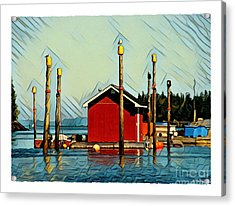 Fish Shack, Campobello Acrylic Print