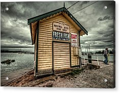 Fish Shed Acrylic Print by Wayne Sherriff