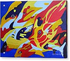 Fish Shoal Abstract 2 Acrylic Print