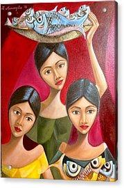 Fish Vendors Acrylic Print by Khristina Manansala