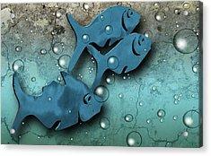 Fish Wall Acrylic Print by Terry Cork