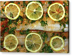 Fish With Lemon And Coriander By Kaye Menner Acrylic Print