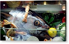Fish With Lemon In Venice Acrylic Print by Michael Henderson
