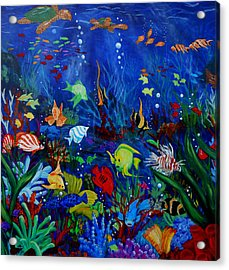 Fish You Dont Feed Acrylic Print by Nora Niles