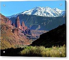 Fisher Towers 1 Acrylic Print by Jeff Brunton