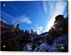 Acrylic Print featuring the photograph Fisher Towers by Kate Avery
