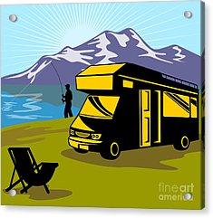 Fisherman Caravan Acrylic Print by Aloysius Patrimonio