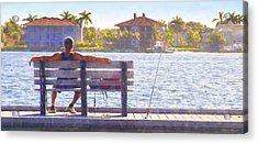 Fisherman Pass A Grille Florida Acrylic Print