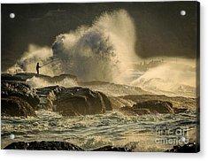 Fisherman Splash Acrylic Print
