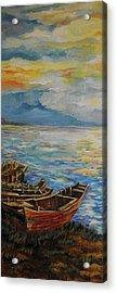 Fisherman Sunset Frame 1 Acrylic Print