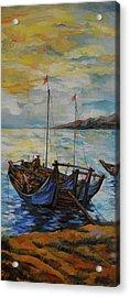 Fisherman Sunset Frame 2 Acrylic Print