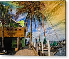 Fisherman Village Acrylic Print by Gina Cormier