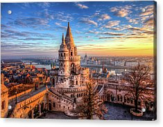 Fisherman's Bastion In Budapest Acrylic Print by Shawn Everhart