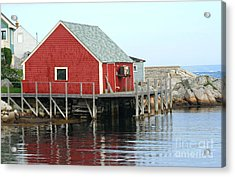 Fishermans House On Peggys Cove Acrylic Print