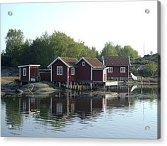 Fisherman's Huts Acrylic Print by Dan Andersson