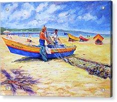 Fishermans Legacy Acrylic Print by Estela Robles
