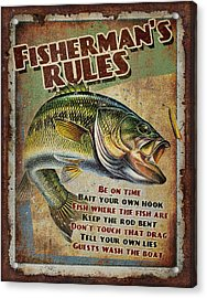 Fisherman's Rules Acrylic Print