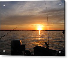 Acrylic Print featuring the photograph Fishermans Sunset by Jack G  Brauer