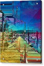 Fishermans Terminal Pier 2 Acrylic Print by Tim Allen