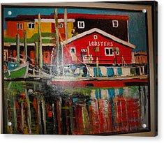 Fishermans Wharf Acrylic Print by Les Smith