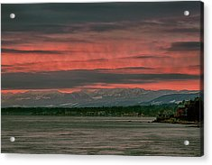 Acrylic Print featuring the photograph Fishermans Wharf Sunrise by Randy Hall