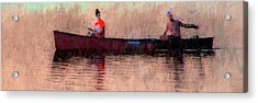 Fisherman Acrylic Print by Alex Galkin