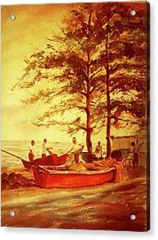 Fishermens Sunset Acrylic Print by Estela Robles