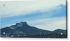 Acrylic Print featuring the photograph Fishers Peak Raton Mesa In Snow by Christopher Kirby