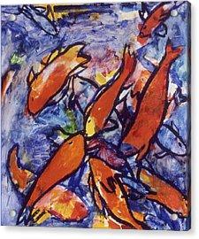 Fishes Acrylic Print by Nina Talbot