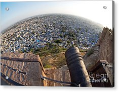 Acrylic Print featuring the photograph Fisheye View Of Jodhpur by Yew Kwang