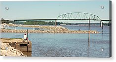 Fishin' The Mighty Miss Acrylic Print by Jame Hayes