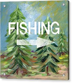 Fishing- Art By Linda Woods Acrylic Print