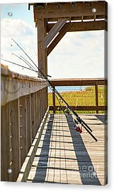 Fishing At Shem Creek Acrylic Print