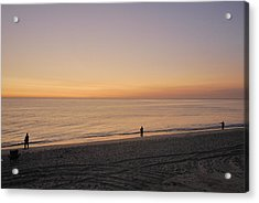 Fishing At Sunrise Acrylic Print by Mimi Katz