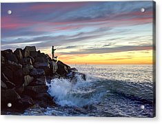 Fishing At Sunset Acrylic Print