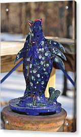 Fishing Blues Acrylic Print by Terry Anderson