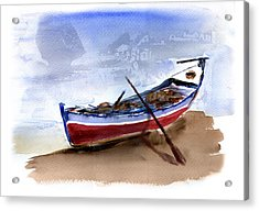 Fishing Boat Acrylic Print by Anselmo Albert Torres