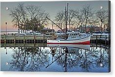Fishing Boat At Newburyport Acrylic Print
