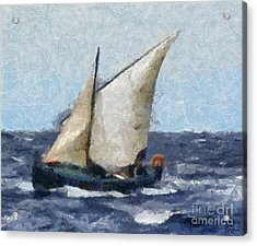 Fishing Boat From Adriatic Sea Acrylic Print by Dragica  Micki Fortuna