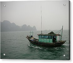 Fishing Boat In North Vietnam Acrylic Print