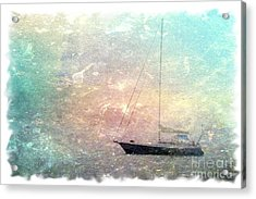 Fishing Boat In The Morning Acrylic Print