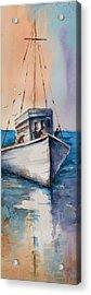 Fishing Boat Acrylic Print by Mary DuCharme