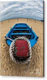 Little Blue Fishing Boat Acrylic Print