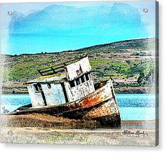 Acrylic Print featuring the photograph Fishing Boat Point Reyes by William Havle