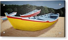 Fishing Boats At Crashboat Beach Acrylic Print